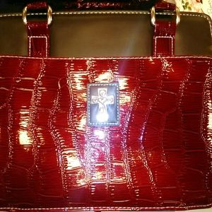 HOLY BIBLE leather purse  book cover